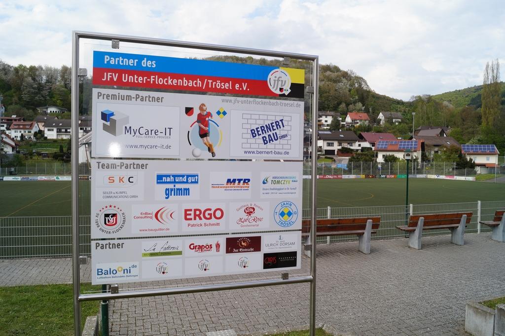 Spnsorentafel Sportplatz Trösel