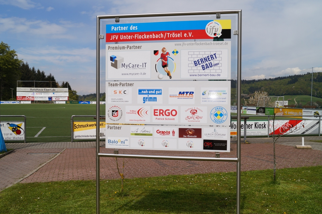 Sponsorentafel Sportplatz SVU